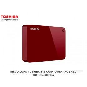 DISCO DURO TOSHIBA 4TB CANVIO ADVANCE RED HDTC940XR3CA