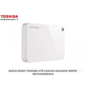 DISCO DURO TOSHIBA 4TB CANVIO ADVANCE WHITE HDTC940XW3CA
