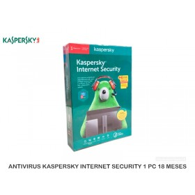 ANTIVIRUS KASPERSKY INTERNET SECURITY 1 PC 18 MESES
