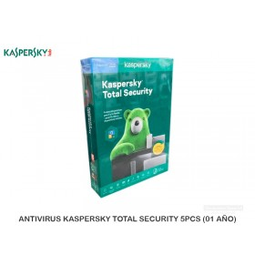 ANTIVIRUS KASPERSKY TOTAL SECURITY 5PCS (01 AÑO)