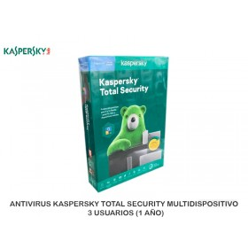 ANTIVIRUS KASPERSKY TOTAL SECURITY MULTIDISPOSITIVO 3 USUARIOS (1 AÑO)