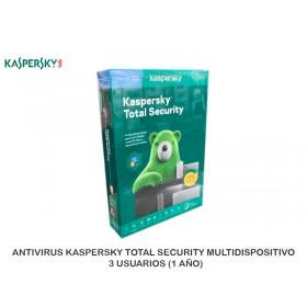 ANTIVIRUS KASPERSKY TOTAL SECURITY MULTIDISPOSITIVO  3 USUARIOS (1 AÑO)