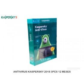 ANTIVIRUS KASPERSKY 2018 3PCS + 1 LIC MOBILE 12 MESES