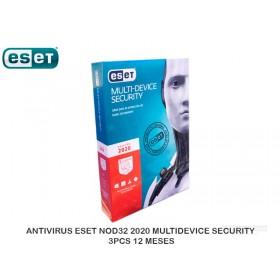 ANTIVIRUS ESET NOD32 2020 MULTIDEVICE SECURITY 3PCS 12 MESES