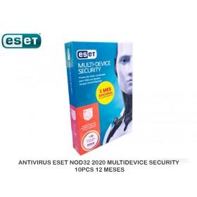 ANTIVIRUS ESET NOD32 2020 MULTIDEVICE SECURITY 10PCS 12 MESES