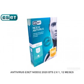 ANTIVIRUS ESET NOD32 2020 BTS 2 X 1, 12 MESES