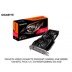 TARJETA VIDEO GIGABYTE RX5500XT GAMING 4GB GDDR6, 128-BITS, PCI-E 4.0. GV-R55XTGAMING OC-4GD