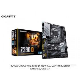 PLACA GIGABYTE Z390 D, REV 1.0, LGA1151, DDR4, SATA 6.0, USB 3.1