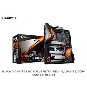 PLACA GIGABYTE Z390 AORUS ULTRA, REV 1.0, LGA1151, DDR4, SATA 6.0, USB 3.1