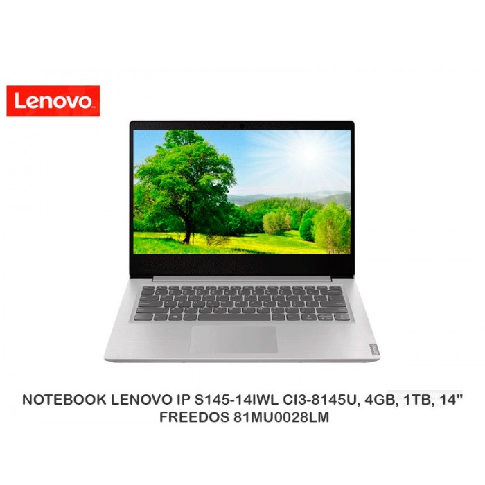"NOTEBOOK LENOVO IP S145-14IWL CI3-8145U, 4GB, 1TB, 14"", FREEDOS 81MU0028LM"