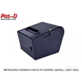 IMPRESORA TERMICA POS-D TP-300PRO, SERIAL, USB Y RED