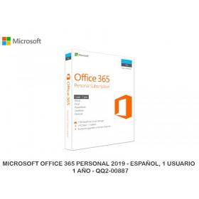 MICROSOFT OFFICE 365 PERSONAL 2019 - ESPAÑOL, 1 USUARIO - 1 AÑO - QQ2-00887