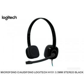 MICROFONO C/AUDIFONO LOGITECH H151 USB STEREO BLACK