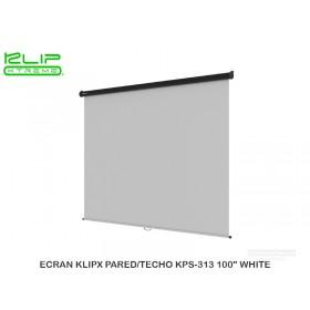 "ECRAN KLIPX PARED/TECHO KPS-313 100"" WHITE"
