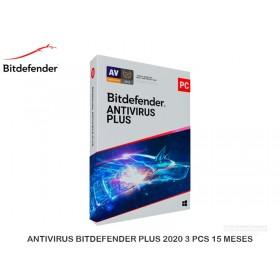 ANTIVIRUS BITDEFENDER PLUS 2020 3 PCS 15 MESES