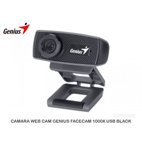 CAMARA WEB CAM GENIUS FACECAM 1000X USB BLACK