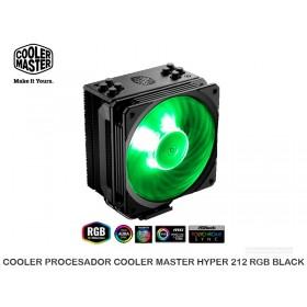 COOLER PROCESADOR COOLER MASTER HYPER 212 RGB BLACK