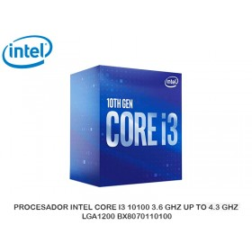 PROCESADOR INTEL CORE I3 10100 3.6 GHZ UP TO 4.3 GHZ LGA1200 BX8070110100