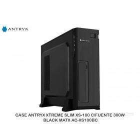 CASE ANTRYXXTREMESLIMXS-100C/FUENTE300W BLACKMATX AC-XS100BC