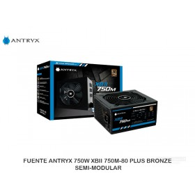 FUENTE ANTRYX 750W XBII 750M-80 PLUS BRONZE SEMI-MODULAR