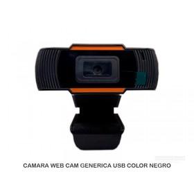 CAMARA WEB CAM GENERICA USB COLOR NEGRO