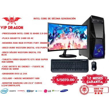 PC COMPUTADORA VIP DRAGON SETUP VIP 003002