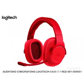 AUDIFONO C/MICROFONO LOGITECH G433 7.1 RED 981-000651