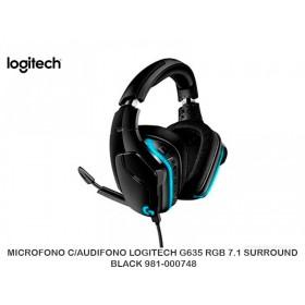 MICROFONO C/AUDIFONO LOGITECH G635 RGB 7.1 SURROUND BLACK 981-000748