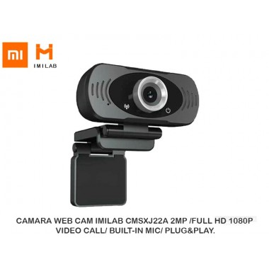 CAMARA WEB CAM IMILAB CMSXJ22A 2MP /FULL HD 1080P/ VIDEO CALL/ BUILT-IN MIC/ PLUG&PLAY.