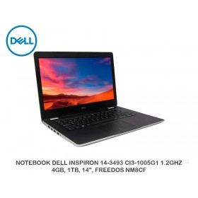 "NOTEBOOK DELL INSPIRON 14-3493 CI3-1005G1 1.2GHZ, 4GB, 1TB, 14"", FREEDOS NM8CF"