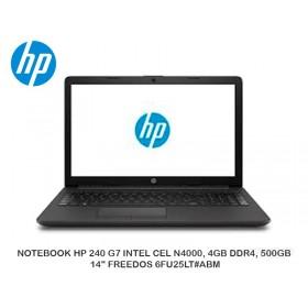 """LAPTOP HP 240 G7 INTEL CEL N4000, 4GB DDR4, 500GB, 14"""" FREEDOS 6FU25LT#ABM"""