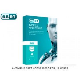 ANTIVIRUS ESET NOD32 2020 5 PCS, 12 MESES