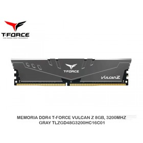 MEMORIA DDR4 T-FORCE VULCAN Z 8GB, 3200MHZ, GRAY TLZGD48G3200HC16C01