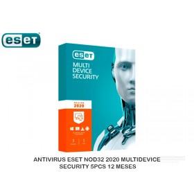 ANTIVIRUS ESET NOD32 2020 MULTIDEVICE SECURITY 5PCS 12 MESES
