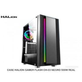 CASE HALION GAMER FLASH CH-03 NEGRO 500W REAL