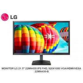 """MONITOR LG 21.5"""" 22MN430 IPS FHD, 920X1080 VGA/HDMI/VESA 22MN430-B"""