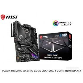 PLACA MSI Z490 GAMING EDGE LGA 1200, 4 DDR4, HDMI DP ATX