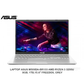 "LAPTOP ASUS M509DA-BR133 AMD RYZEN 3 3200U, 8GB, 1TB,15.6"" FREEDOS, GREY"
