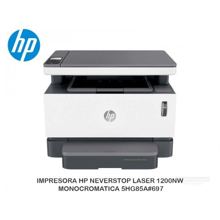 IMPRESORA HP NEVERSTOP LASER 1200NW MONOCROMATICA 5HG85A