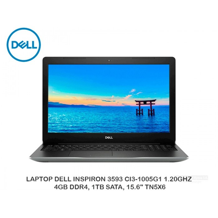 "LAPTOP DELL INSPIRON 3593 CI3-1005G1 1.20GHZ, 4GB DDR4, 1TB SATA, 15.6"" TN5X6"