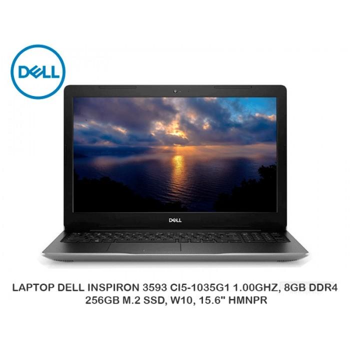 """LAPTOP DELL INSPIRON 3593 CI5-1035G1 1.00GHZ, 8GB DDR4, 256GB M.2 SSD, W10, 15.6"""" HMNPR"""