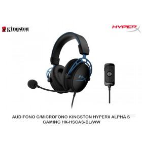 AUDIFONO C/MICROFONO KINGSTON HYPERX ALPHA S GAMING HX-HSCAS-BL/WW