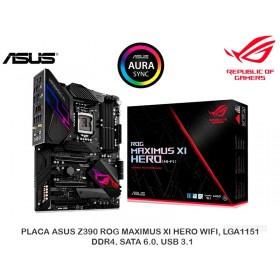 PLACA ASUS Z390 ROG MAXIMUS XI HERO WIFI, LGA1151, DDR4, SATA 6.0, USB 3.1