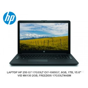 "LAPTOP HP 250 G7 17G33LT CI7-1065G7, 8GB, 1TB, 15.6"", VID MX130 2GB, FREEDOS 17G33LT ABM"
