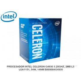 PROCESADOR INTEL CELERON G4930 3.20GHZ, 2MB L3, LGA1151, 54W, 14NM BX80684G4930