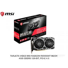 TARJETA VIDEO MSI RADEON RX5500XT MECH 4GB GDDR6 128-BIT, PCI-E 4.0