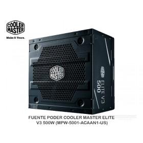 FUENTE PODER COOLER MASTER ELITE V3 500W (MPW-5001-ACAAN1-US)