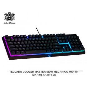 TECLADO COOLER MASTER SEMI-MECANICO MK110 - MK-110-KKMF1-LS