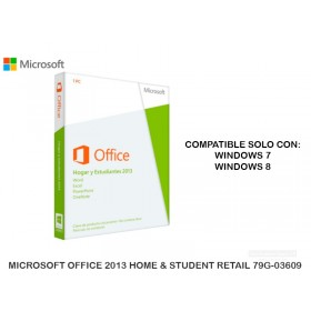 MICROSOFT OFFICE 2013 HOME & STUDENT RETAIL 79G-03609