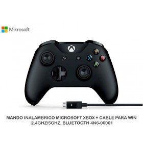 MANDO INALAMBRICO MICROSOFT XBOX + CABLE PARA WIN, 2.4GHZ/5GHZ, BLUETOOTH 4N6-00001